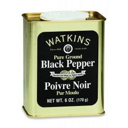 Black Pepper, Pure Ground, 6 Oz