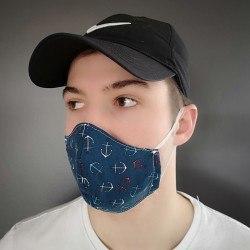 couvre visage en tissu lavable